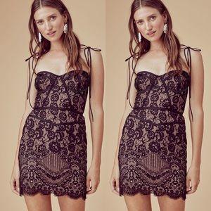 Tati Lace Corset Dress Black
